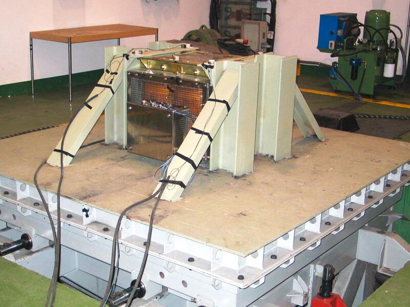 equipos ensayados de vibración